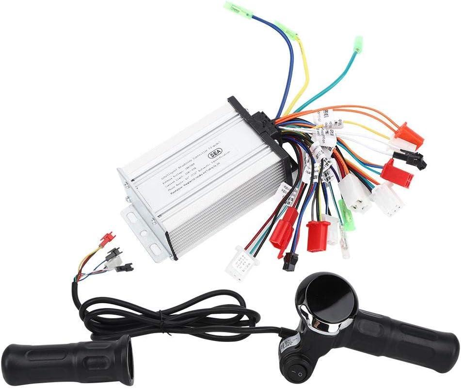 VGEBY Interruptor de Acelerador de Acelerador de Acelerador de Bicicleta eléctrica 24V-36V con Pantalla LCD de Voltaje de batería Digital para Bicicleta eléctrica Scooter de Bicicleta eléctrica