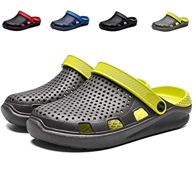 eccbox Unisex Garden Clogs Womens Mens Quick Drying Beach Sandals Comfort Slip On Casual Water Shoes Indoor Outdoor Summer Slippers | Mules & Clogs