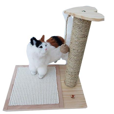 FQMM Gato De Madera Maciza Marco De Escalada Gato Árbol para Gatos Muebles Scratcher Activity Center