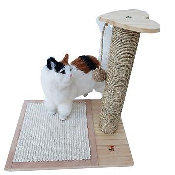 Interesante Marco de Escalada de Gato de Madera Sólida Placa de Rascado Columna Práctica para Agarrar
