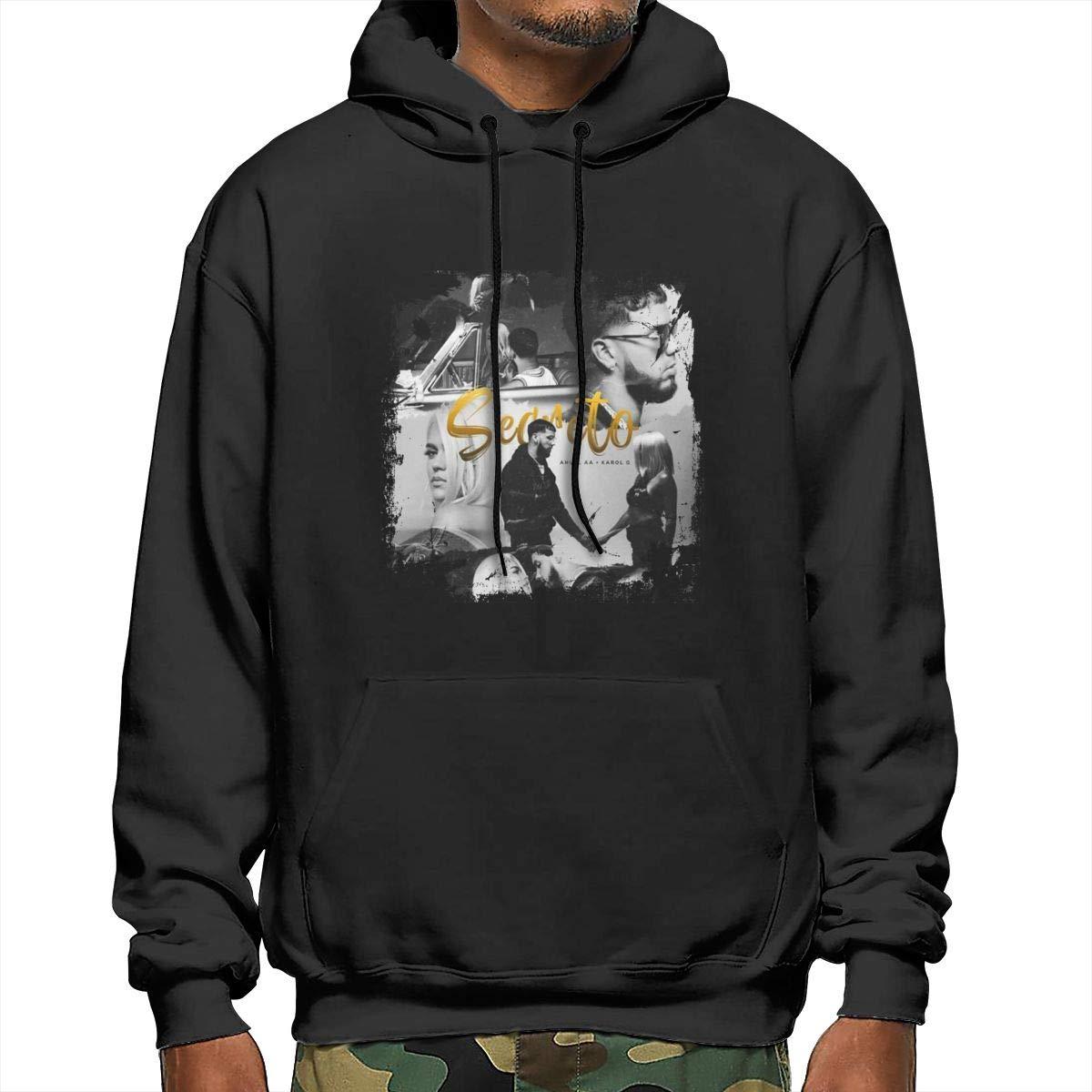 Opanjyajk Karol G Secreto Mens Pullover Hooded Sweatshirt