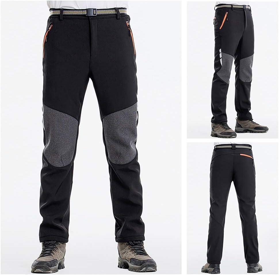 DEKINMAX Pantalones de Trekking Hombre Pantalones T/érmicos Impermeable para Invierno Esqu/í Senderismo Monta/ña