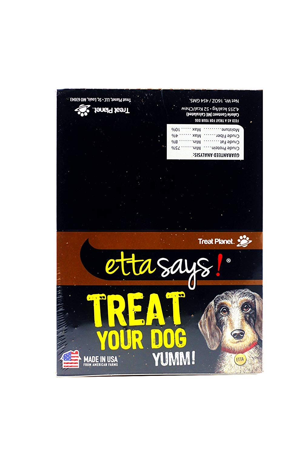 Etta Says Natural Crunchy Beef Chews Dog Treats, 36 Count