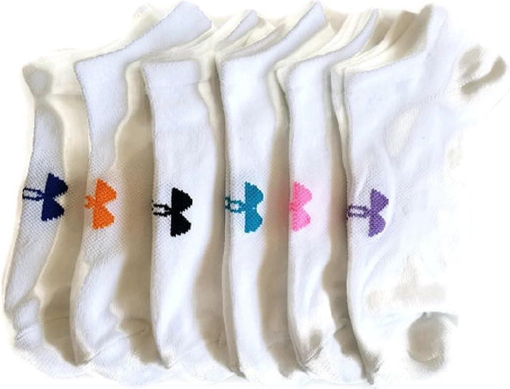 Women/'s Under Armour Essential No Show Socks- 6-Pack Size Medium 7-10.5 ,BLK