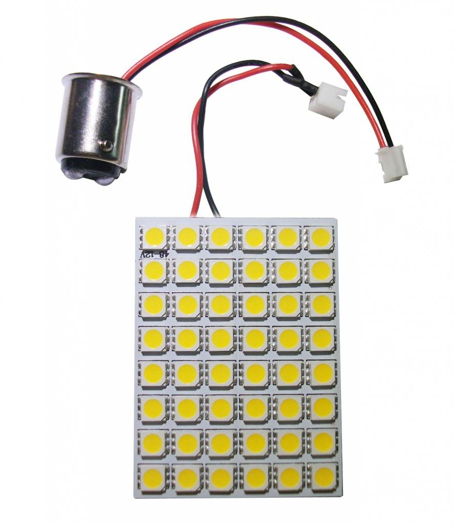 Grv 48 5050 Smd High Bright Car Interior Panel Dome Led Wiring A Lamp From Scratch Light Dc 12v Ba15d 1142 1076 1176 Adapter Warm White Pack Of 2 Automotive