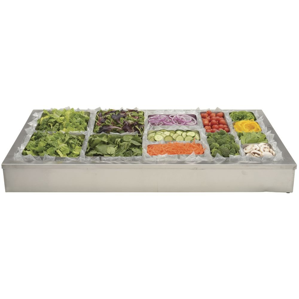 HUBERT Ice Display for Cold Foods and Beverages Stainless Steel - 48''L x 24''W x 8''H