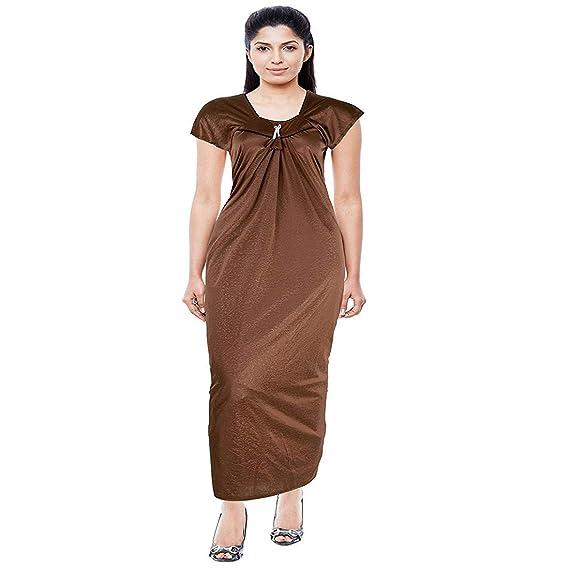 Alvia Women s Satin Nighty   maxi   nighty for women   comfortable women  nighty  Nighty   Nightwear   Nightwear for women   Women s Night Wear ... 491d8a53f