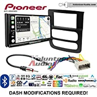 Volunteer Audio Pioneer AVIC-W8400NEX Double Din Radio Install Kit with Navigation, Apple CarPlay and Android Auto Fits 2002-2005 Ram