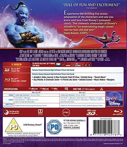 Aladdin [3D + Blu-ray] [2019] [Region Free]: Amazon co uk