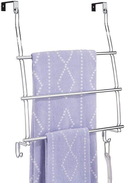 Toallero universal para puerta de armario de acero inoxidable sin taladrar ni atornillar etc. MisterMountain/® soporte para toallas pa/ños de cocina