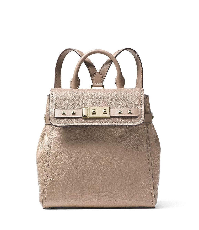 700132106faf MICHAEL Michael Kors Addison Small Pebbled Leather Backpack in Black:  Handbags: Amazon.com