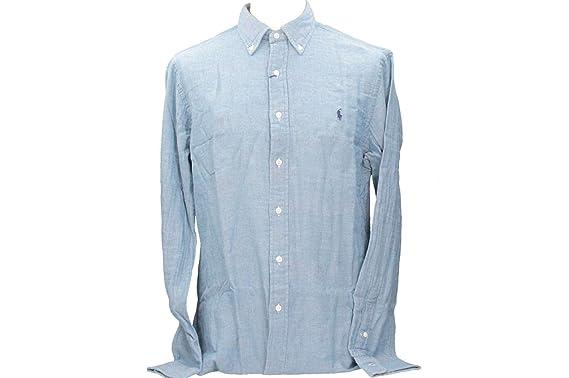 Polo Ralph Lauren D3A1B D3A1N D3A1K Camisas Hombre Azul L: Amazon ...