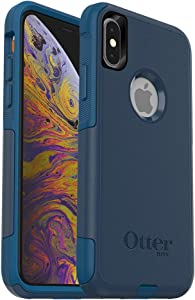 OtterBox COMMUTER SERIES Case for iPhone Xs & iPhone X - Retail Packaging - BESPOKE WAY (BLAZER BLUE/STORMY SEAS BLUE)
