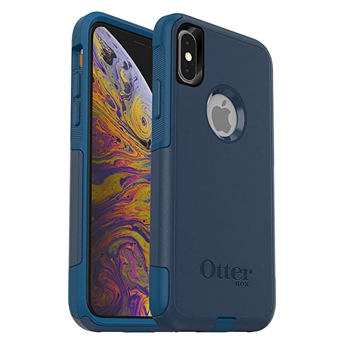 hot sale online 4e547 65500 OtterBox COMMUTER SERIES Case for iPhone Xs & iPhone X - Retail Packaging -  BESPOKE WAY (BLAZER BLUE/STORMY SEAS BLUE)