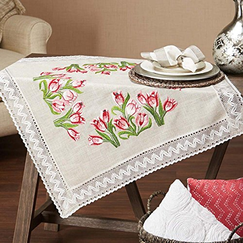 Herrschners® Garden Tulips Table Topper Stamped Embroidery ()