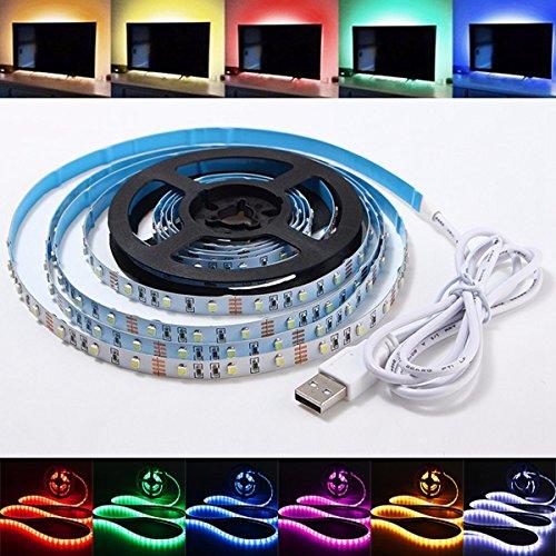 Lights & Lighting - 1m Waterproof b Smd3528 Tv Background Computer Led Strip Tape ble Light Dc5v - Waterproof b Led Strip Light Powered Remote Multicolor - - Outlet Sunglass World