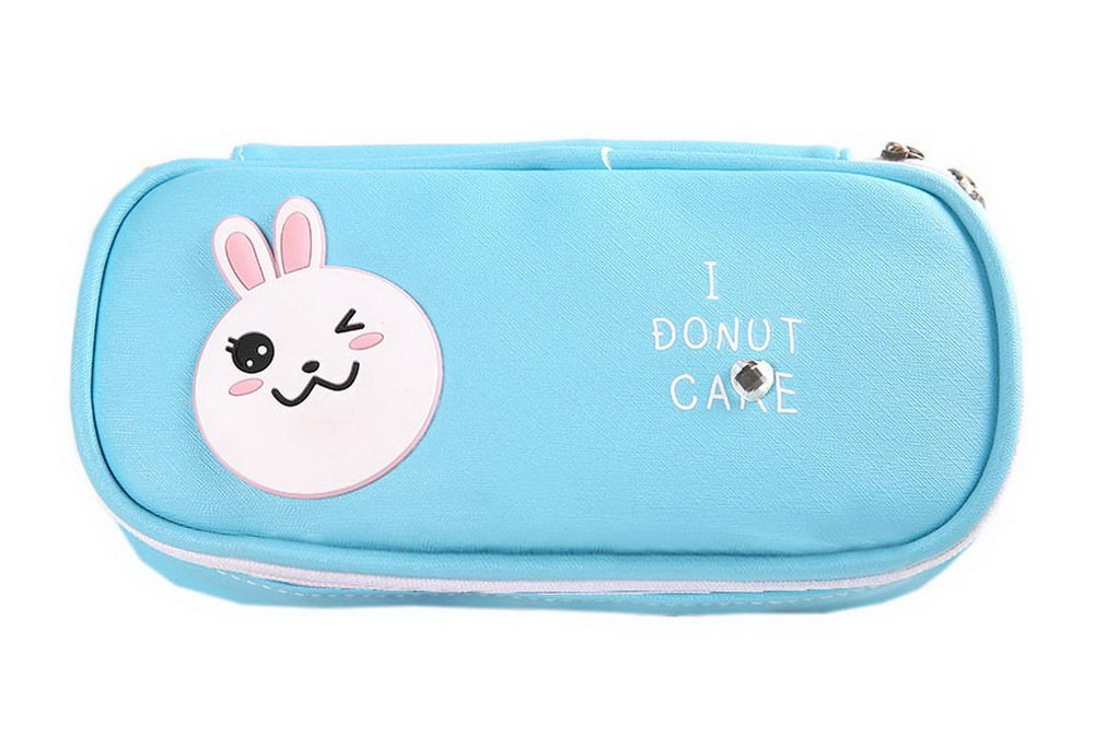 Blue Rabbit Multifunctional Creative Pupil Large Capacity Lovely Pencil Case Gentle Meow