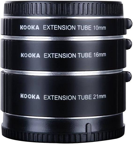Kooka KK-SE47A Extension Tube Kit for Sony E-Mount 10 mm Black