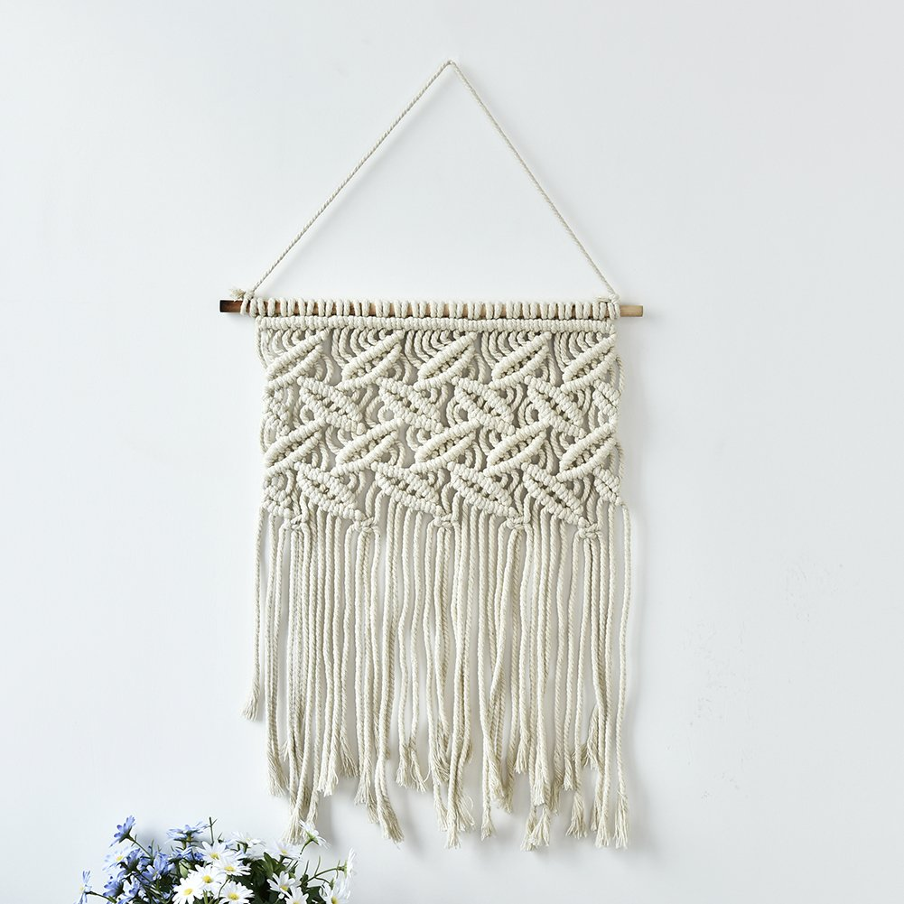 Macrame Wall Hanging Tapestry, Handmade Boho Style Chic Home Living Room Bedroom Art Decor Woven Hangings Bohemian Wall Decor Fulstarshop