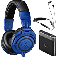Audio-Technica ATH-M50xBB Over-Ear 3.5mm Wired Headphones + Klipsch R6 BT Neckband Headphones Bundle