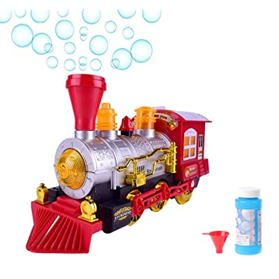 O.B Toys&Gift Bubble Blowing Steam Locomotive Engine Car Bump'n'Go Action Train Toy Battery Operated w/ Colorful Lights & Fun Sounds, Kids Bubble Train : Baby