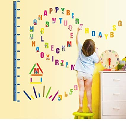 Amazon.com: LPStar Animal Alphabet Letters Wall Decor with Child ...