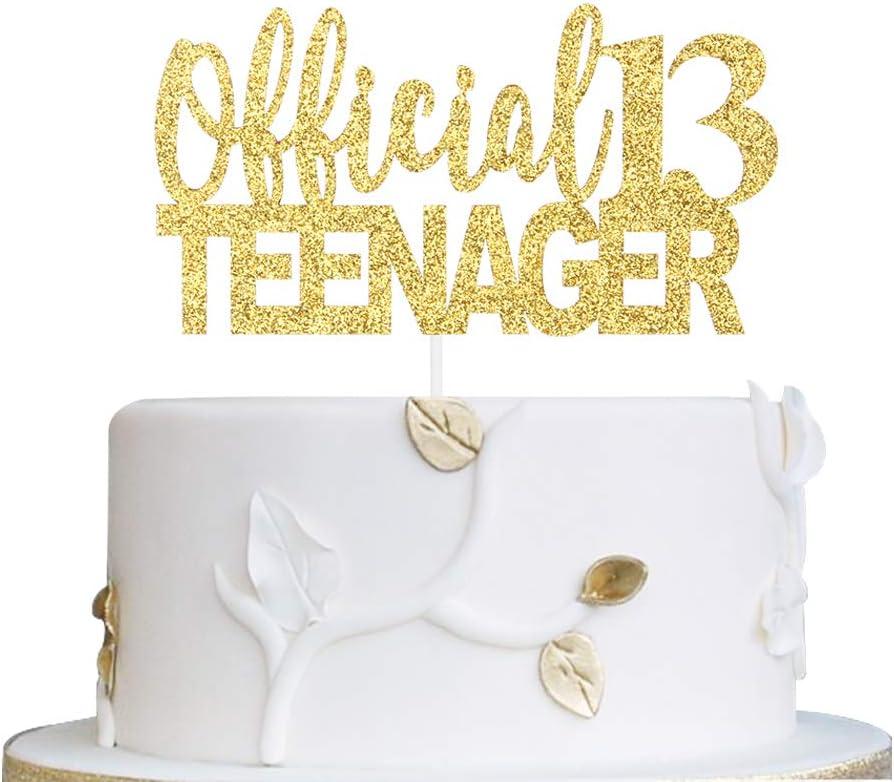 Swell 13Th Birthday Cake Topper Alpha K 13 Official Teenager Cake Topper Funny Birthday Cards Online Elaedamsfinfo