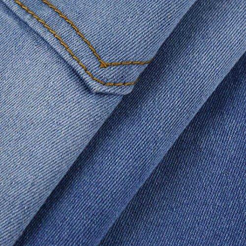 Élasticité Pantalons Denim Chic Skinny Fermeture Détruit Trou Slim Mode Pants Genou Adeshop Unique Leggings Stretchy Bleu À Glissière Jeans Déchirés Casual Femmes vFnwYTq