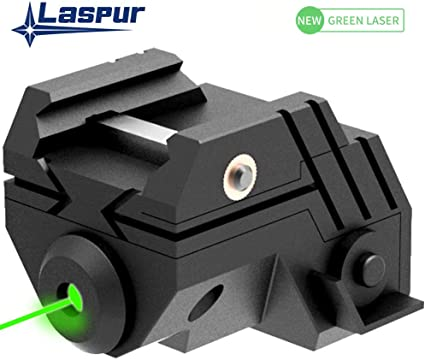 US USB Rechargeable Subcompact Green Laser Sight Picatinny rail for Pistol rifle