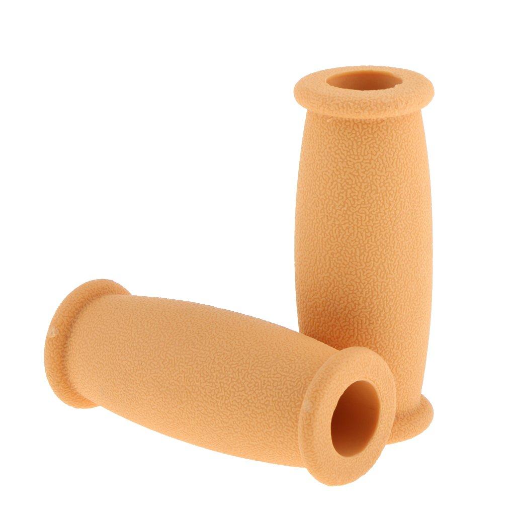 Sharplace Almohadillas de Agarre de Mano de Muleta Cubiertas de Repuesto Accesorios de Muletas de Goma Duraderas - Gris