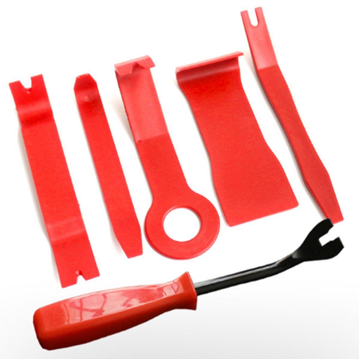 6PCS acciaio auto Door Trim panel clip di rivestimento di rimozione pinze & Tool set ZNME66
