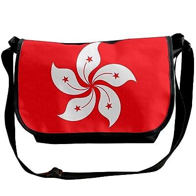 Futong Huaxia Flag Of Hong Kong Travel Messenger Bags Casual Handbag School Shoulder Bag Crossbody Bag Unisex Sling Bag
