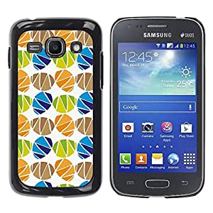 LASTONE PHONE CASE / Carcasa Funda Prima Delgada SLIM Casa Carcasa Funda Case Bandera Cover Armor Shell para Samsung Galaxy Ace 3 GT-S7270 GT-S7275 GT-S7272 / Cool Egg Holiday White Pattern