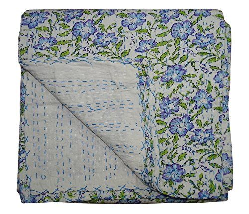Single Bohemian Handmade Size Gudari Bedcover Ralli Kantha Cotton Bhavya Hobo Indian International Blanket Quit 100 IwP6BO4q