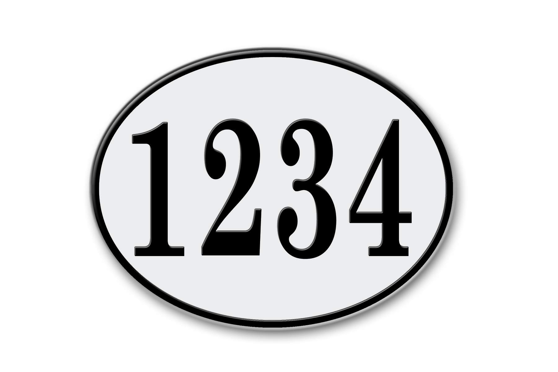 West Coast Curb-N-Sign Oval Reflective Address Plaque (White)
