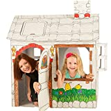 Cardboard Playhouse for Kids to Color - Create an