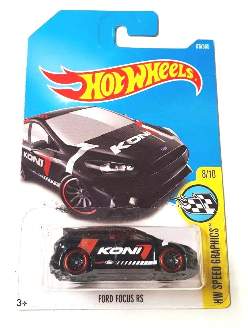Hot Wheels 2017 HW Speed Graphics Ford Focus RS 176//365 Black Mattel
