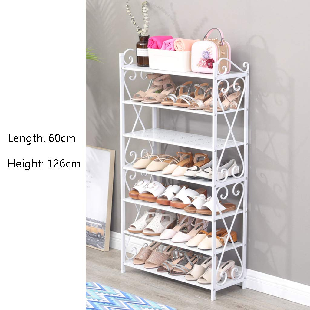 Lightweight Compact Storage Organizer Iron Shoe Storage Rack Stand Space Saving Shoe Stretchers For Mens 3 To 7 Tier 40126cm (Size : 7 tier)