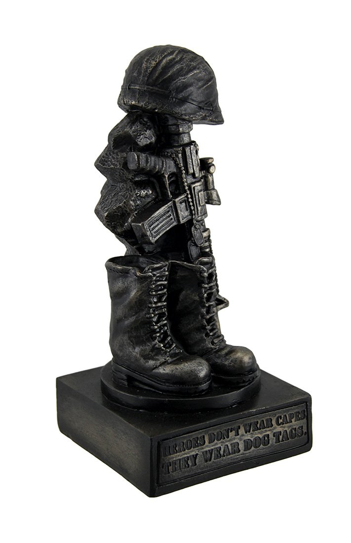 Zeckos Honoring the Fallen Military Soldiers Boots Helmet /& Rifle Statue 8 Inch