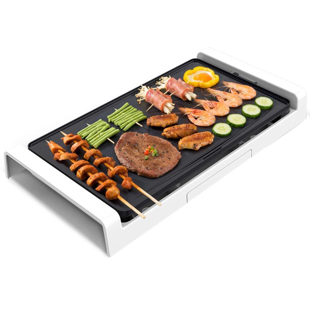 電気の バーベキュー グリル 韓国のバーベキュー グリドル 鉄板焼き テーブルグリル ホットプレート 無煙 ノンスティック 温度管理 にとって 屋内 屋外の 庭園 家族の集い 1800W 537*265*85mm A B07QQQRKYM