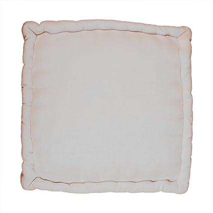 Amazon.com: Floor Cushion Pillow Chunky Indoor Outdoor 100% Cotton ...