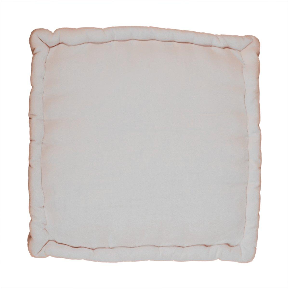 storeindya Floor Cushion Pillow Chunky Indoor Outdoor 100% Cotton Velvet Floor Cushion for Home Office (off White)