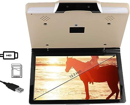 Auto Video Player Retroiluminación LED Televisor de techo para automóvil de 13.3 pulgadas, universal para 7.1 para sistema de entretenimiento para automóvil: Amazon.es: Coche y moto