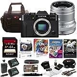 Fujifilm X-T20 Mirrorless Camera Body + 50mm Lens 64GB Body Bundle (Silver)