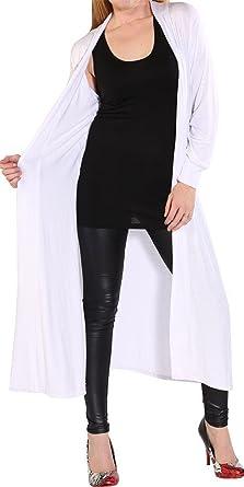 Ladies Sleeveless Front Open Long Plain Maxi Cardigans Top UK Sizes 8-26