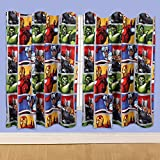 Marvel Disney 54-inch Avengers Team Curtains, Multi-Colour