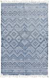 Surya CSK1301-46 Chaska Bright Blue Area Rug, 4' x 6', Bright Blue/Navy/Light Gray