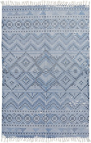 Surya CSK1301-46 Chaska Bright Blue Area Rug, 4' x 6', Bright Blue/Navy/Light Gray by Surya