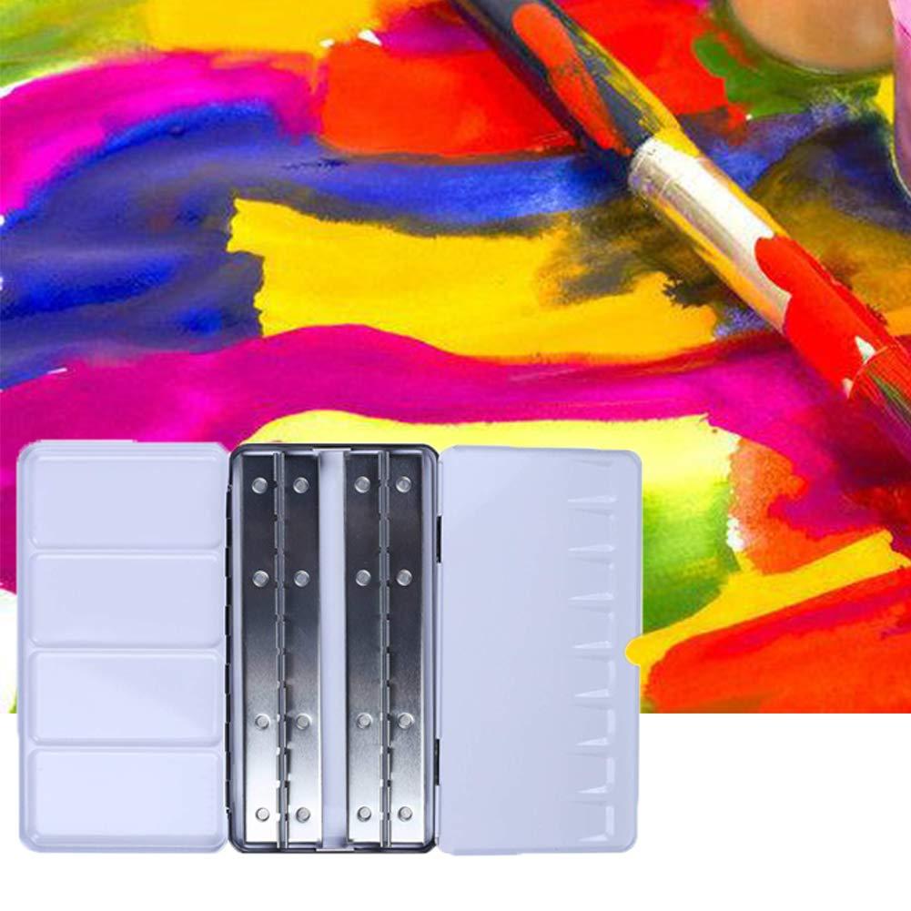 Empty Watercolor Tins MCLseller Paint Tray Palettes,Palette Paint Case Solid Paint Box Palette Half Pan Watercolor Box with 48 Lattice