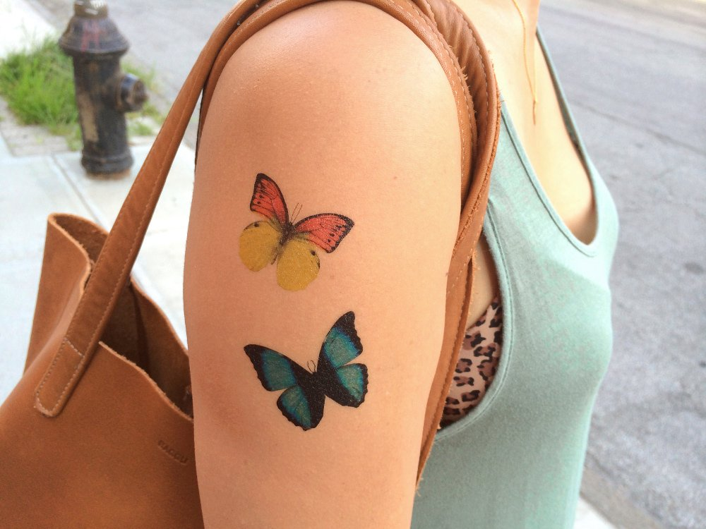Temporary Butterfly Tattoos - (40 Sheets)